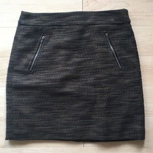 Heathered olive mini skirt from LOFT in size 0